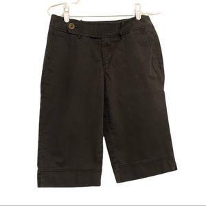 Eddie Bauer Bermuda Shorts, Dk Grey/Brown, Size 2